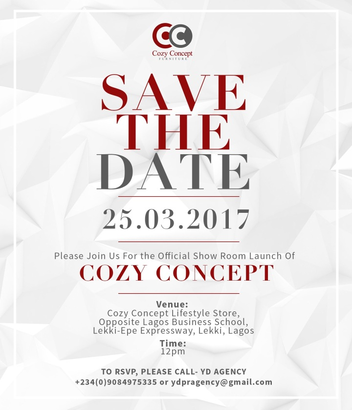 SAVE THE DATE: Cozy Concept Showroom Launch