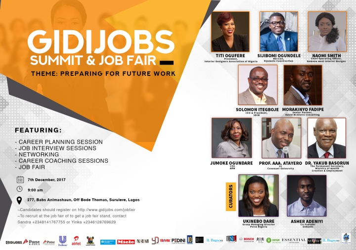 THE 2017 GIDIJOBS SUMMIT AND YOUNG EXECUTIVE JOB FAIR ISHERE!!