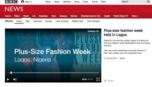 Plus size fashion week held in Lagos BBC News
