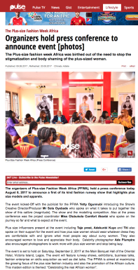 The Plus size Fashion Week Africa Organizers hold press conference to announce event photos Events Pulse