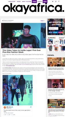 This Video Takes Us Inside Lagos First Ever Plus Size Fashion Week OkayAfrica