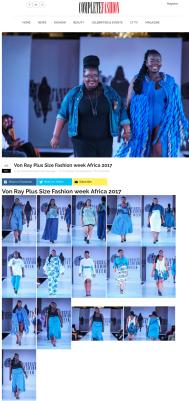 Von Ray Plus Size Fashion week Africa 2017 – Complete Fashion