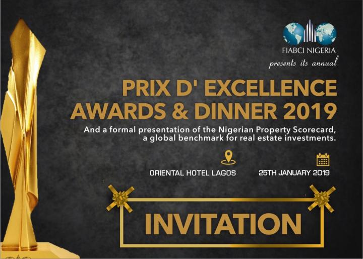 FIABCI-NIGERIA BUSINESS FORUM AND PRIX D'EXCELLENCE AWARDS AND DINNER2019