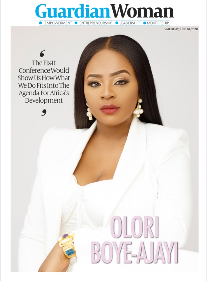 COVER ALERT!! Olori Boye- Ajayi features in today's Guardian Woman.