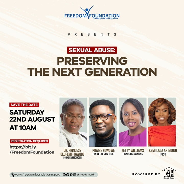 FREEDOM FOUNDATION HOLDS WEBINAR ON SEXUAL ABUSE.
